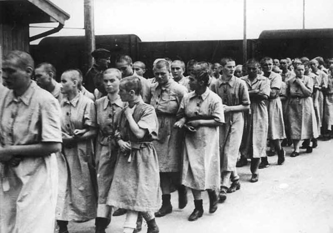 Forced labor at Auschwitz I labor camp